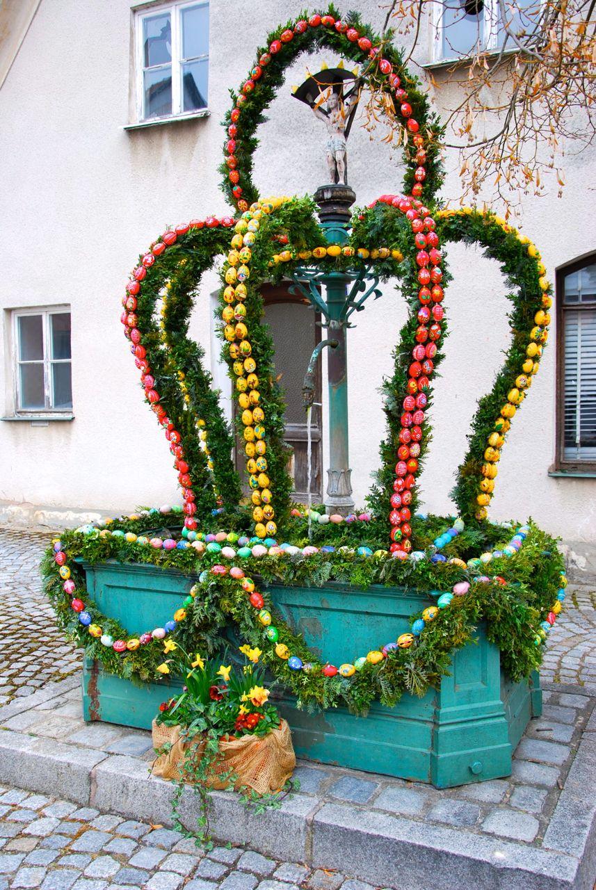 Osterbrunnen-Aufbau